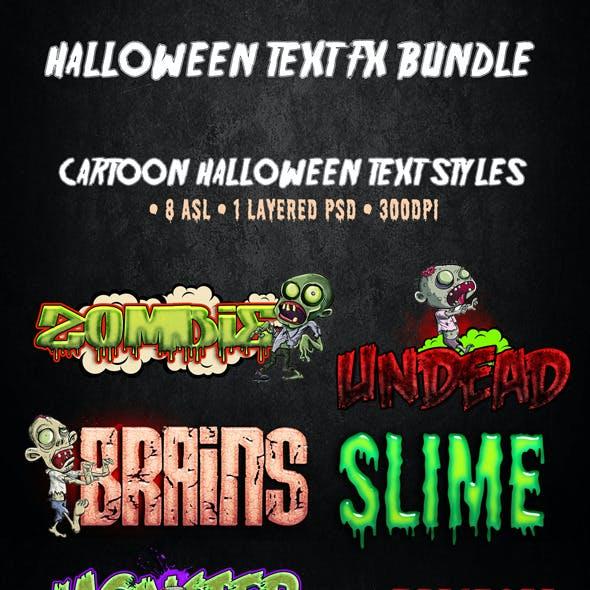 Halloween Text FX Bundle