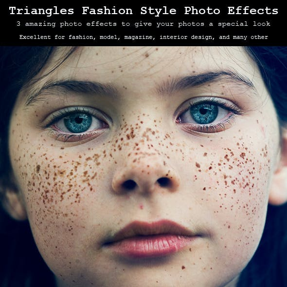 Triangles Fashion Style Photo Effects