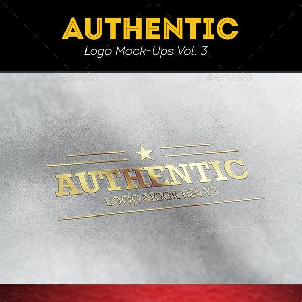 Authentic Logo Mockups Vol. 3