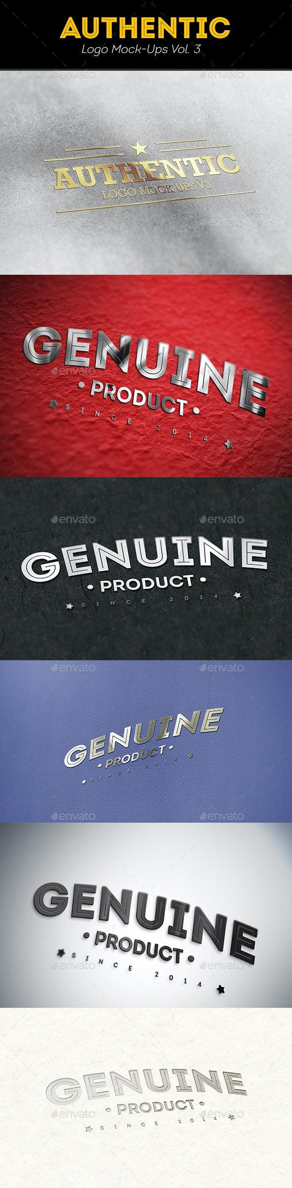 Authentic Logo Mockups Vol. 3 - Logo Product Mock-Ups