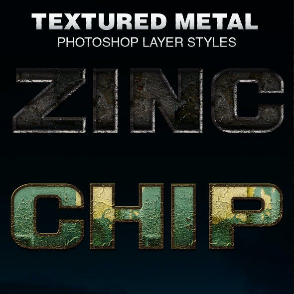 Textured Metal Photoshop Layer Styles