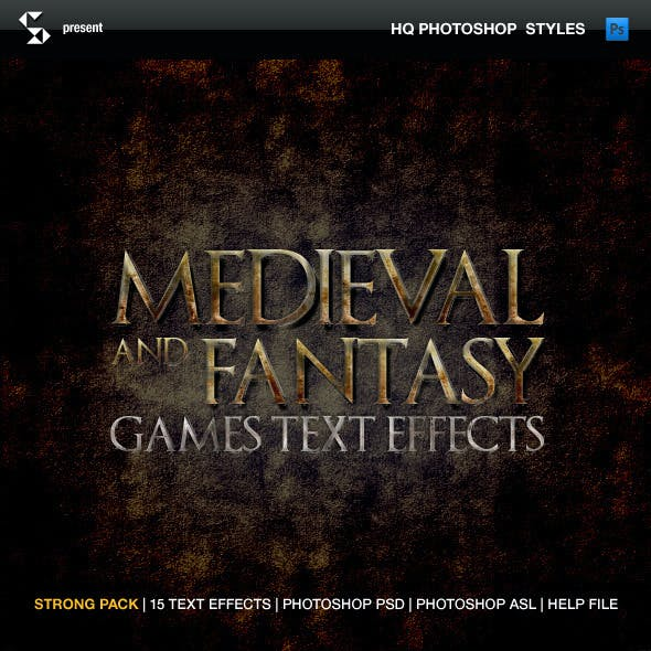 Medieval and Fantasy Games Text Effects