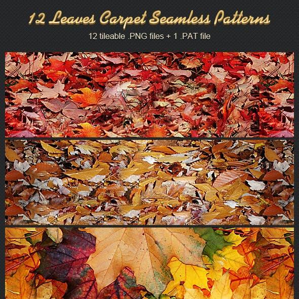12 Leaves Carpet Seamless Patterns
