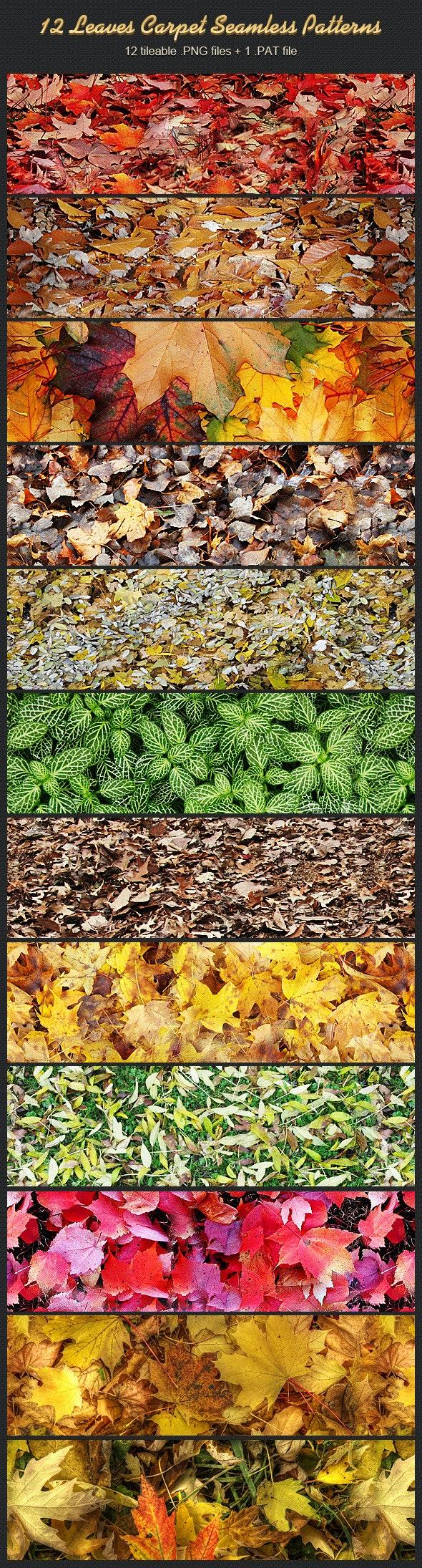 12 Leaves Carpet Seamless Patterns - Nature Textures / Fills / Patterns