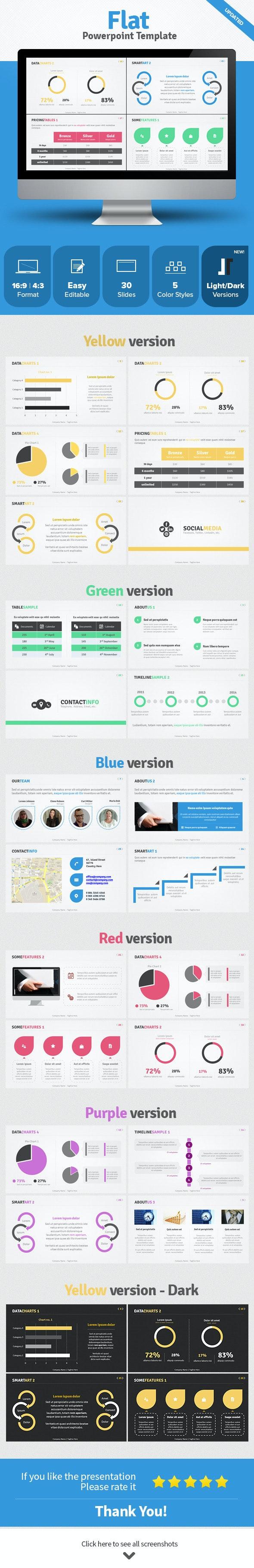 Flat Powerpoint Template - Business PowerPoint Templates