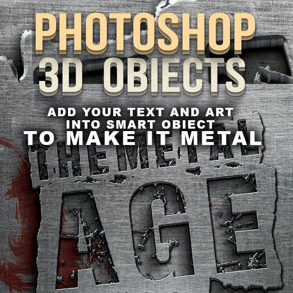 Metal Age 3D Photoshop Creator