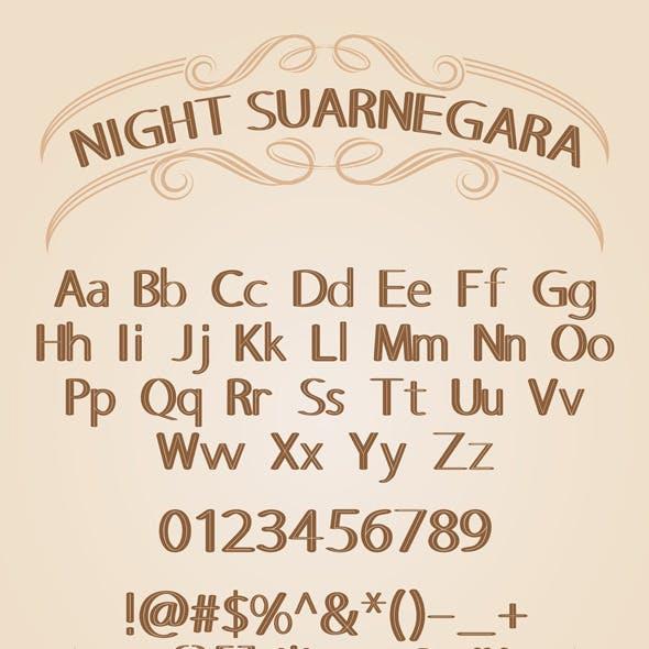 Night Suarnegara Font