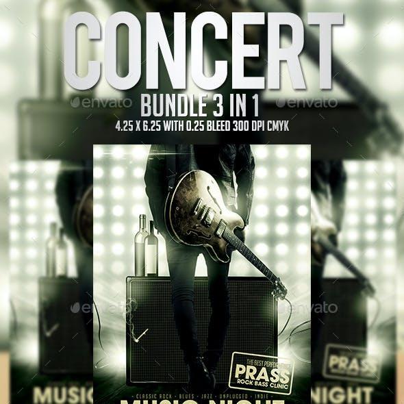 Concert Flyer Template - Bundle 3 in 1
