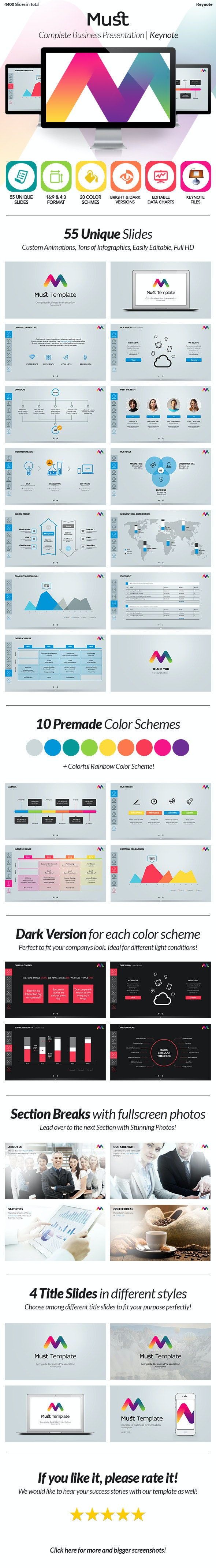 Must Keynote - Complete Business Template - Keynote Templates Presentation Templates