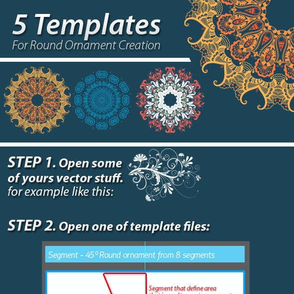 5 Templates For Round Ornament Creation