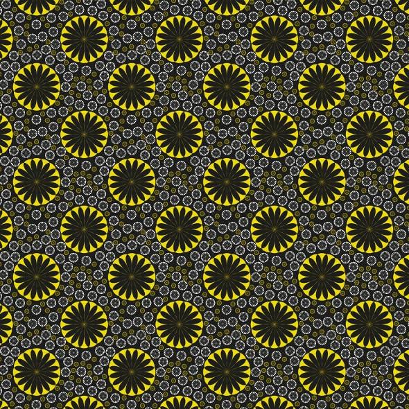 Orange Flower Seamless Pattern Lemon Ice