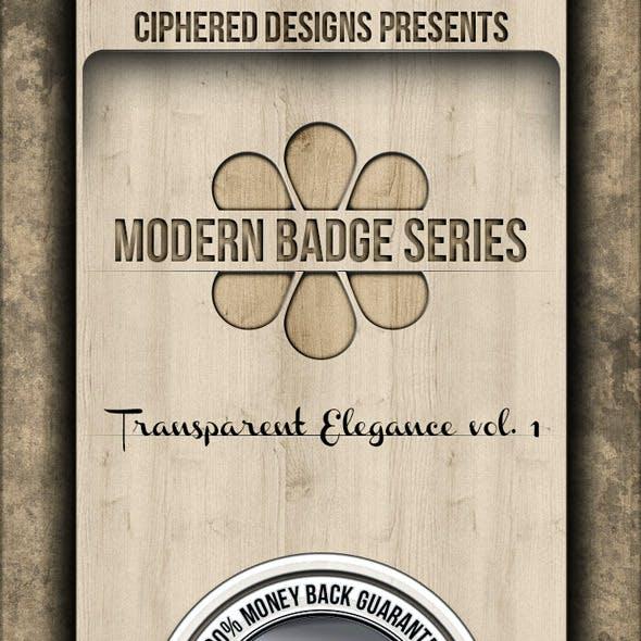 Modern Badge Series - Transparent Elegance vol. 1