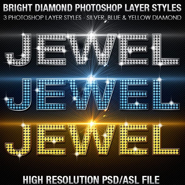 Bright Diamond Photoshop Layer Styles Vol 1
