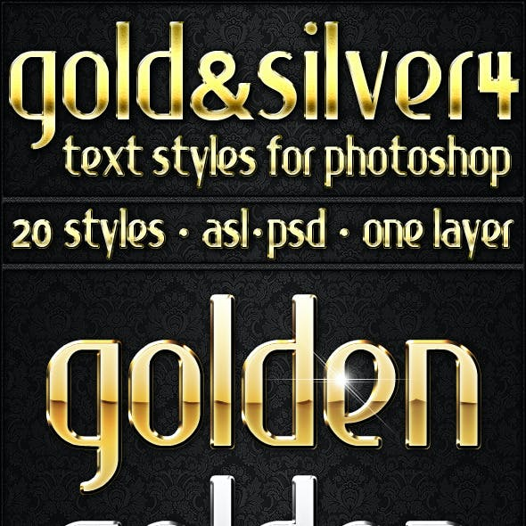 Gold & Silver 4 - Text Styles