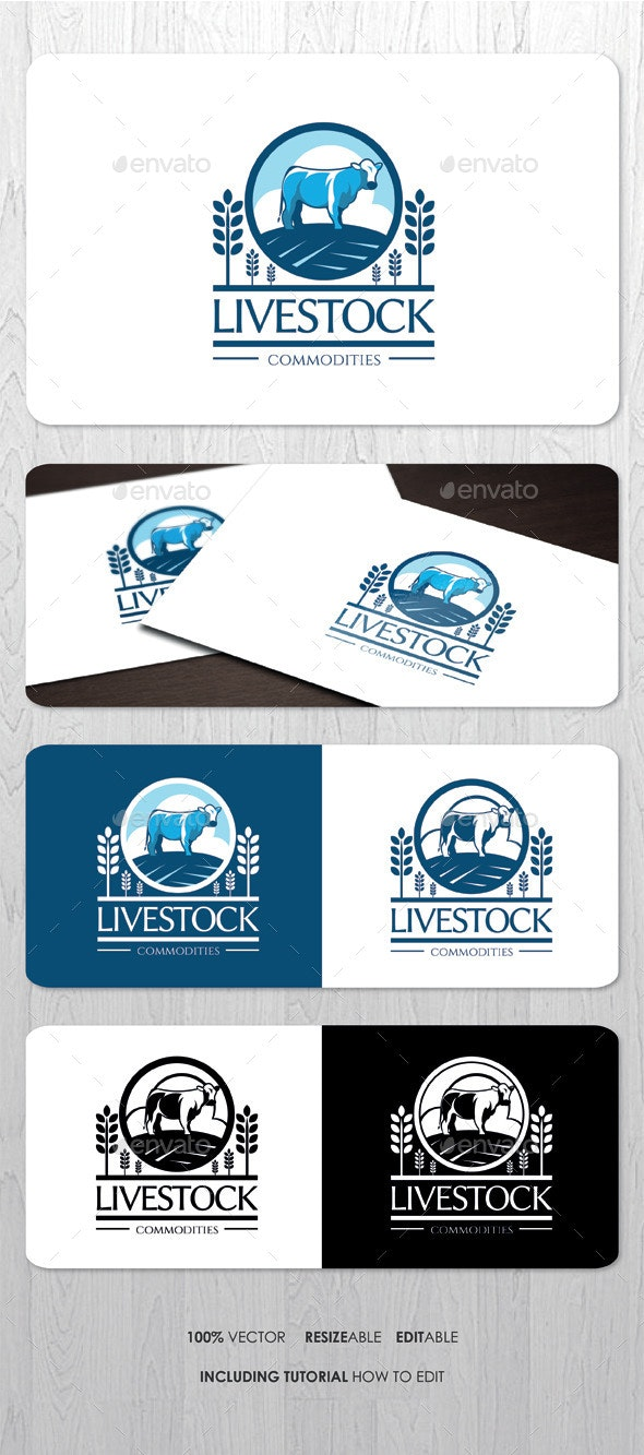 Livestock Farming Business Logo - Crests Logo Templates