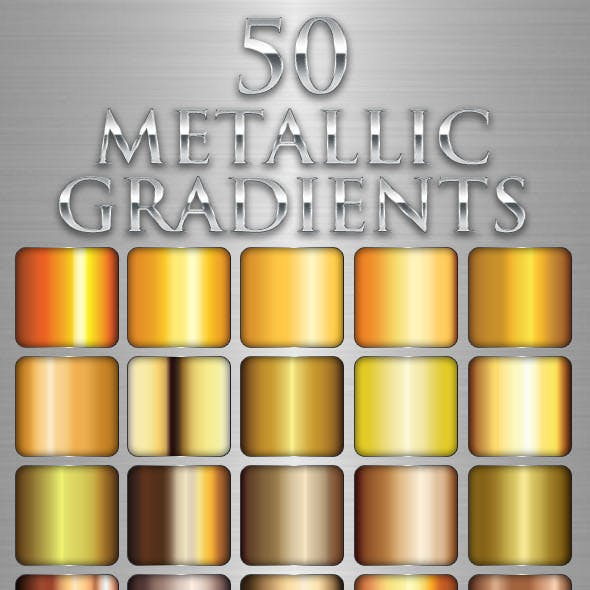 50 Metallic Gradients