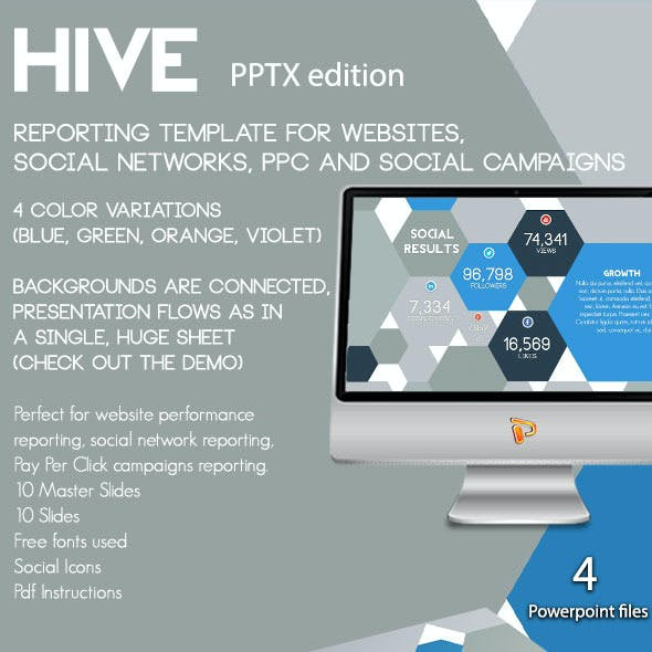 Hive - Web and Social Reporting for Powerpoint