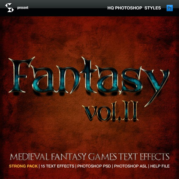 Medieval and fantasy games text effects 2