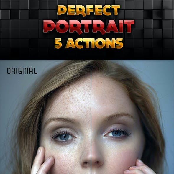 Perfect Portrait Actions Set