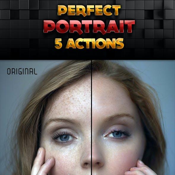 Perfect Portrait Photoshop Actions Set