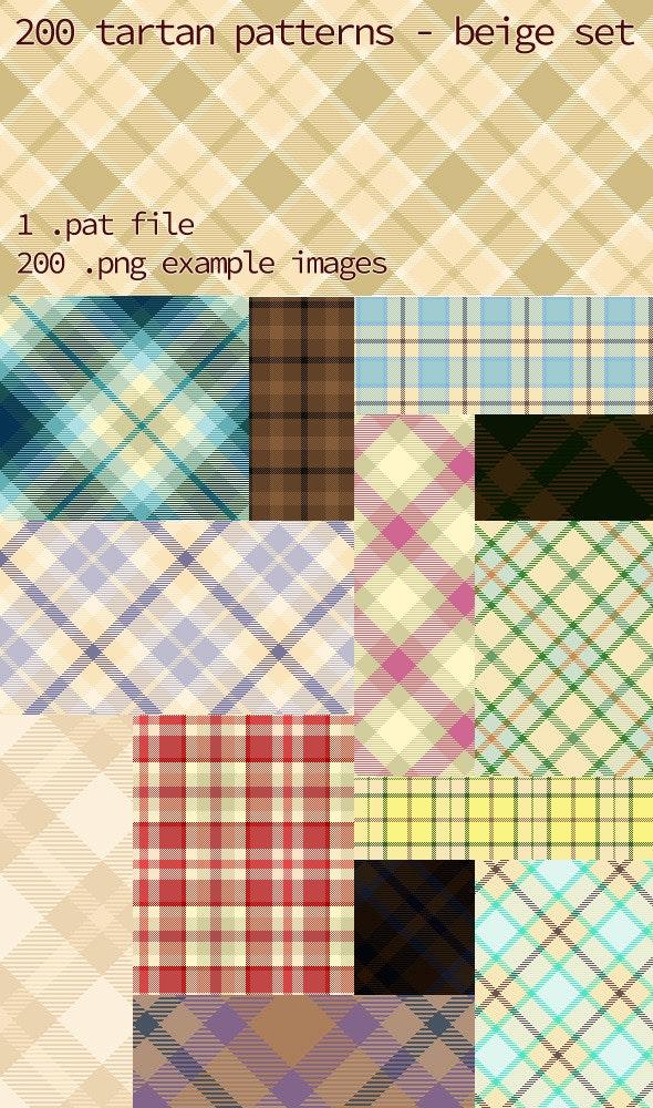 Tartan Pattern Collection - Beige set - Textures / Fills / Patterns Photoshop