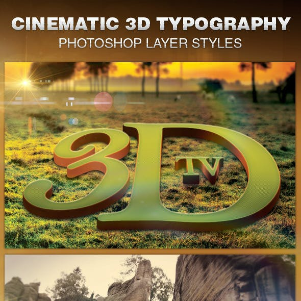 Cinematic 3D Typography Layer Styles