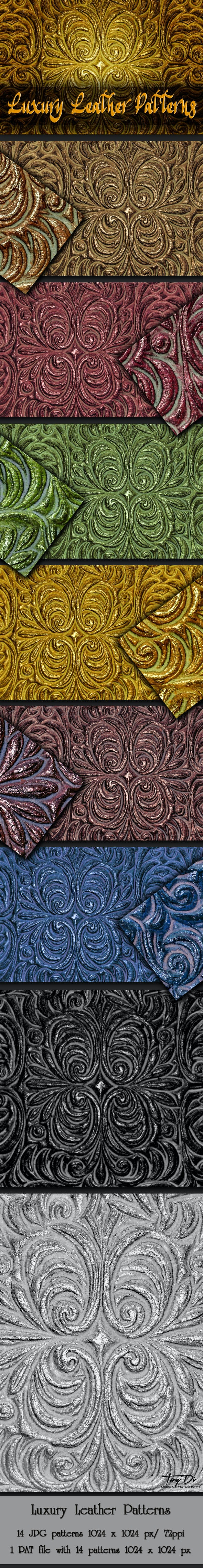 Luxury Decorative Leather Patterns - Miscellaneous Textures / Fills / Patterns
