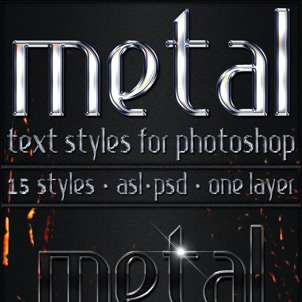 Metal - Text Styles