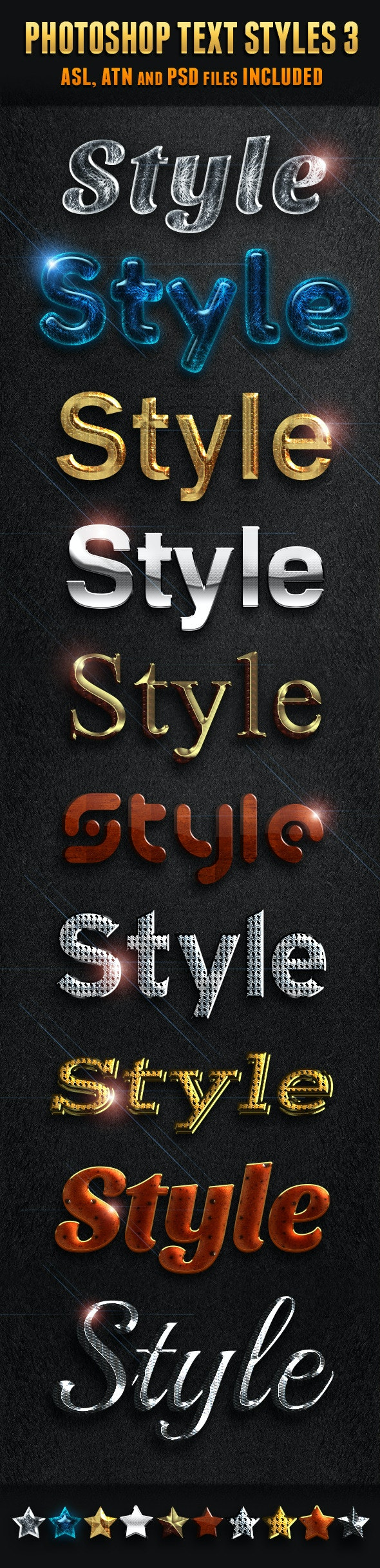 Photoshop Text Styles 3 - Text Effects Styles