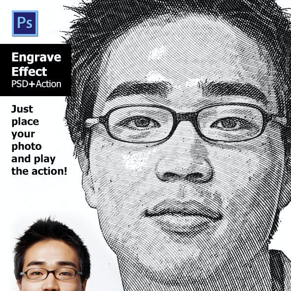 Engrave Effect Photoshop Action