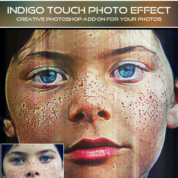 Indigo Touch Photo Effect