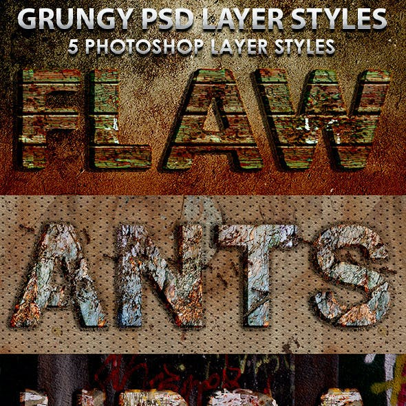 Grungy Photoshop Layer Styles