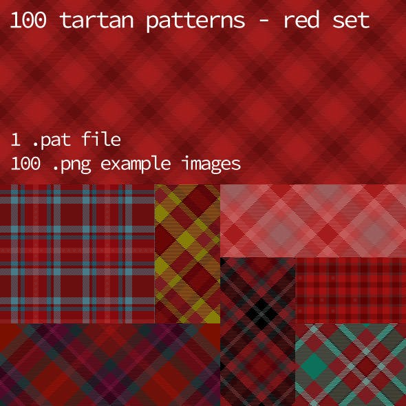 Tartan Pattern Collection - Red set