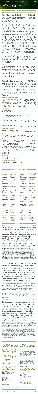 iProton Regular Font - Sans-Serif Fonts