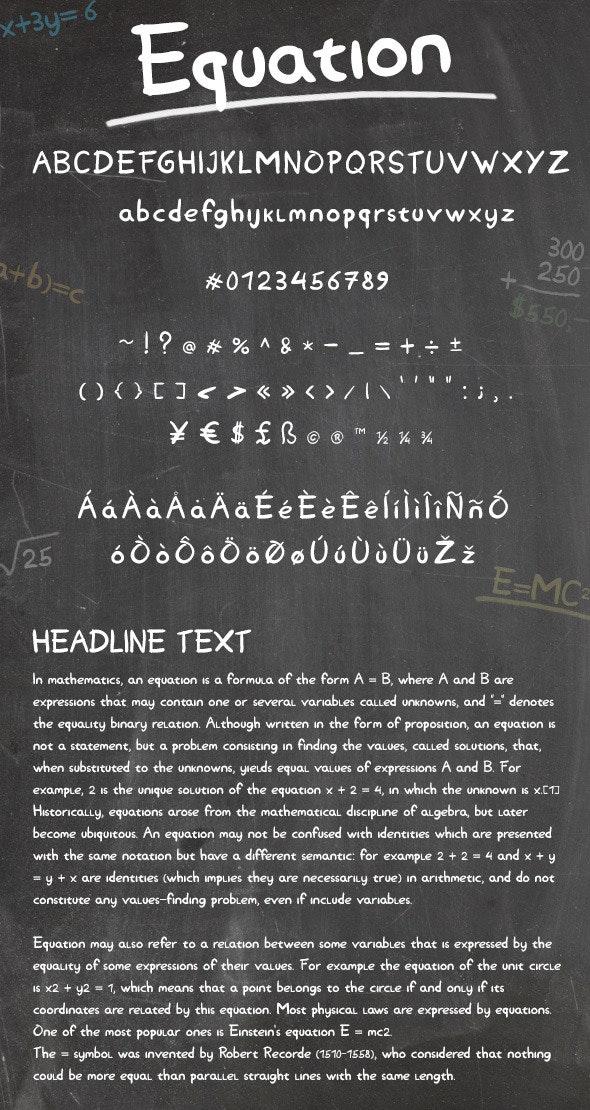 Equation - Handwriting Fonts