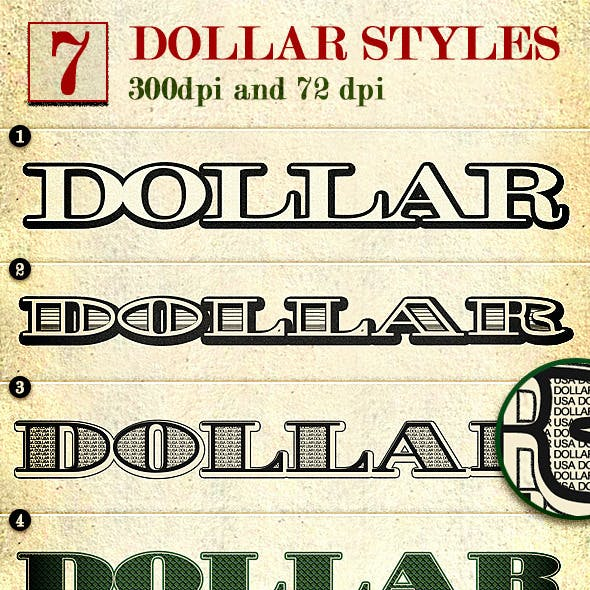 Dollar - Photoshop Layer Styles