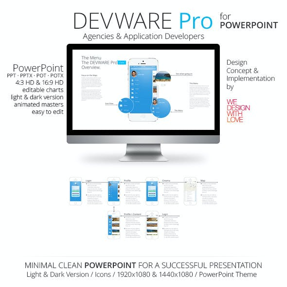 Devware Pro light & dark | PowerPoint | 140 Slides