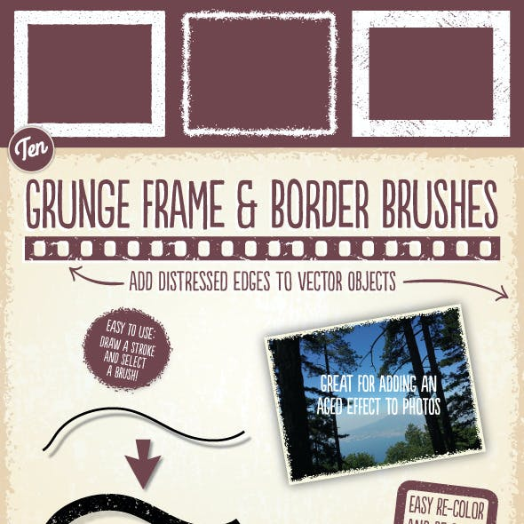 Grunge Frame & Border Brushes