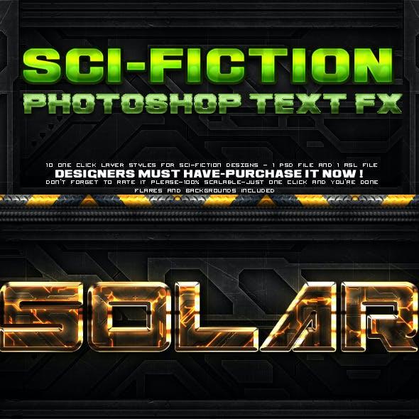 Sci-fi Layer Styles
