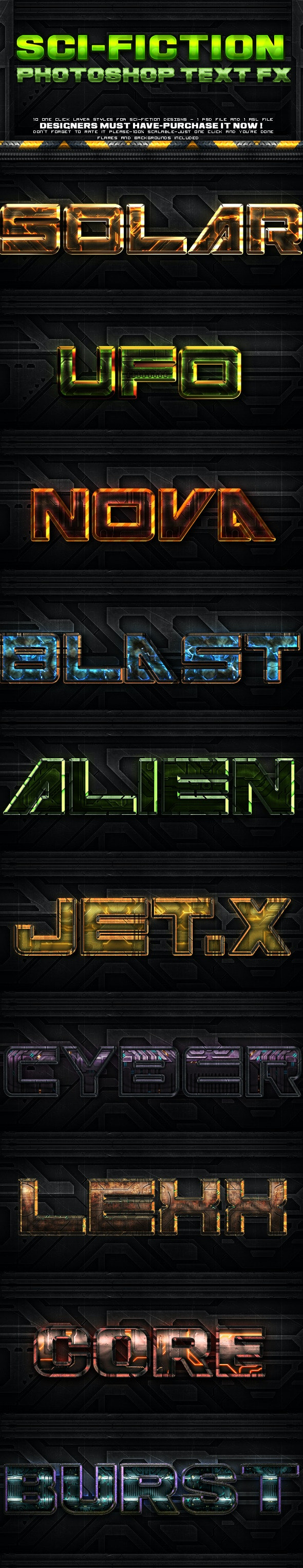 Sci-fi Layer Styles - Text Effects Styles