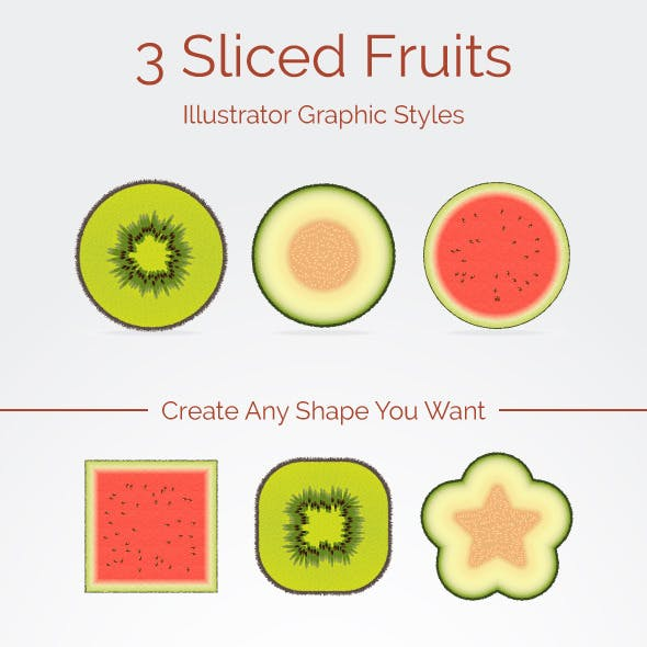 3 Sliced Fruits Graphic Styles