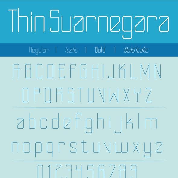 Thin Suarnegara Font