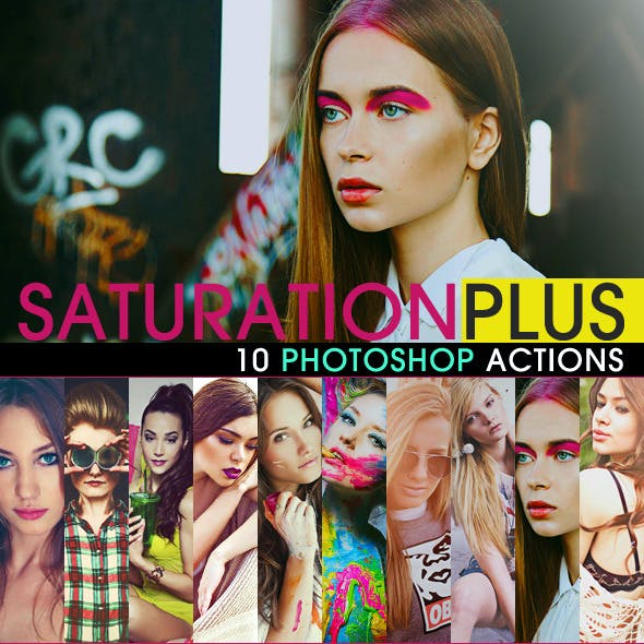 SaturationPLUS Photoshop Actions
