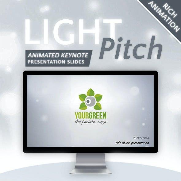 Light Pitch Keynote Presentation Template