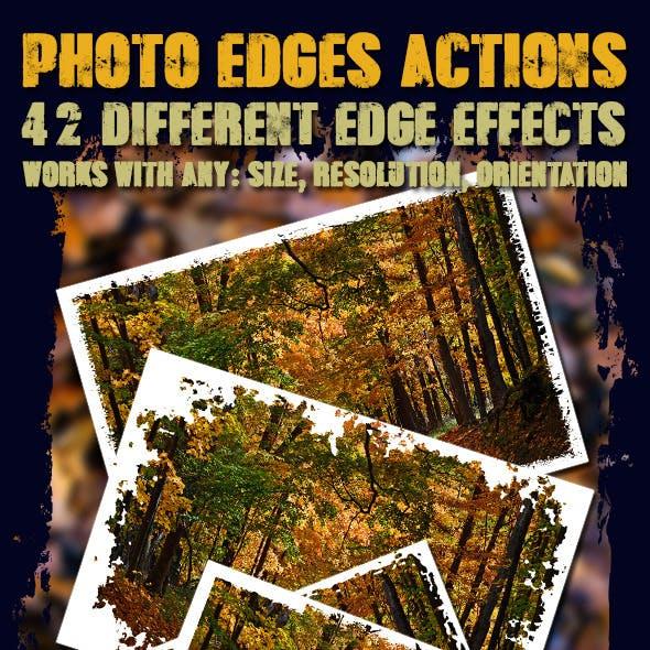 Photo Edges Actions for Photoshop Vol 2