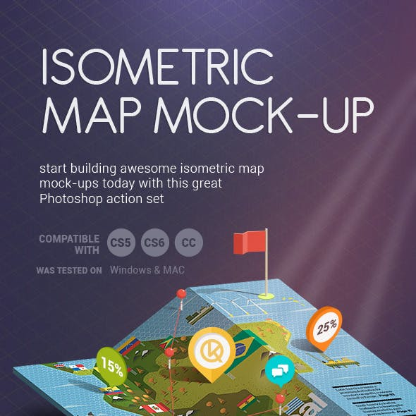 Isometric  Map Mock-Up creator