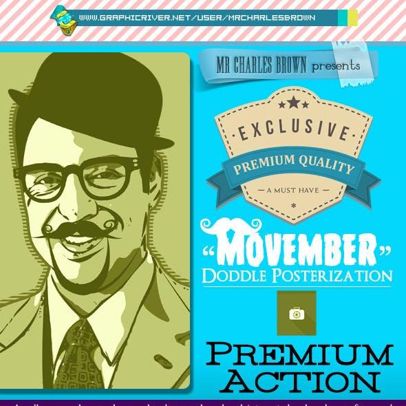 Movember Doddle Posterization Kit