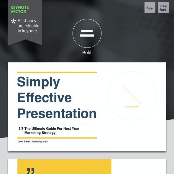 Bold - Keynote Template