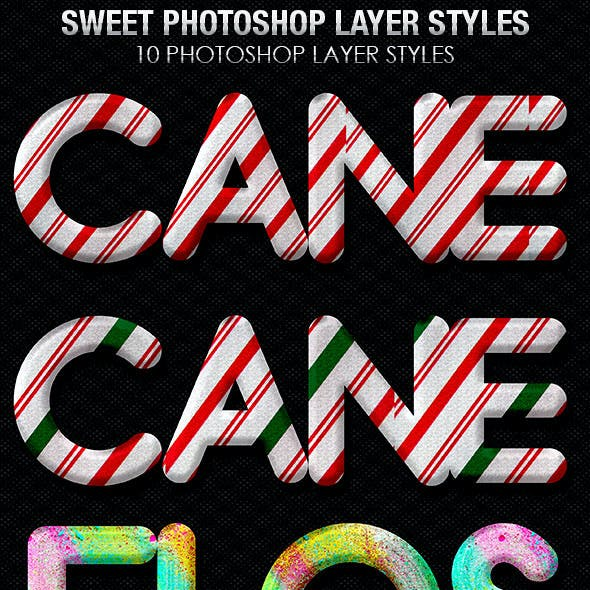 Candy Cane Photoshop Layer Styles