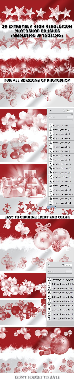 Christmas Decoration Set 1 - Brushes Photoshop